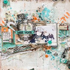 My boys, my world!: scrapbook layout featuring Bo Bunny, Mama Razzi