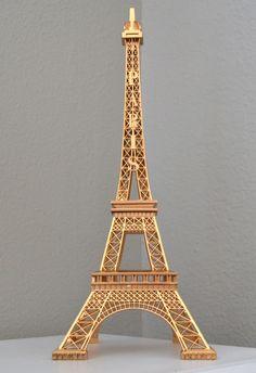 GOLD Eiffel Tower Centerpiece. Parisians Theme Decor. Paris