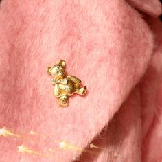 Cute Animal Corsage Little Baby Bear Brooch Pins Gold Plated Brooches Collar Women Lady Party Wedding Jewelry Bear Brooch Pin