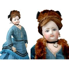 """All Original 17.5"""" Poupee By Jumeau With Sumptuous Lips C. 1870 from kathylibratysantiques on Ruby Lane"""