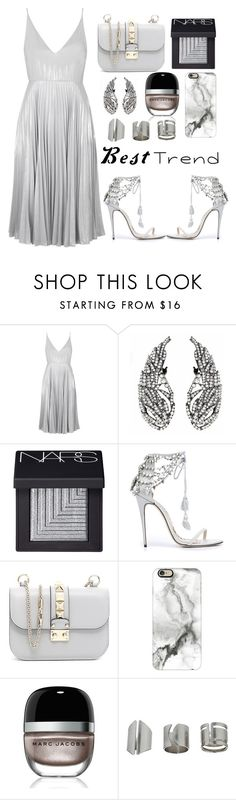 """""""💎"""" by burcaak ❤ liked on Polyvore featuring Topshop, NARS Cosmetics, Marchesa, Valentino, Casetify, Marc Jacobs, dress and bestof2016"""
