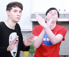 Lol Dan and Phil in the new Nerdy Nummies video