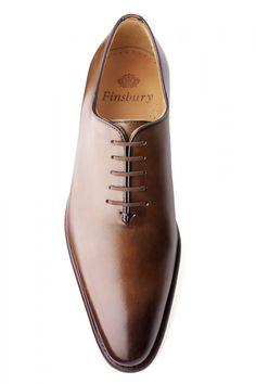 Richelieu Giulia Gold Patiné pour Homme - Finsbury Shoes
