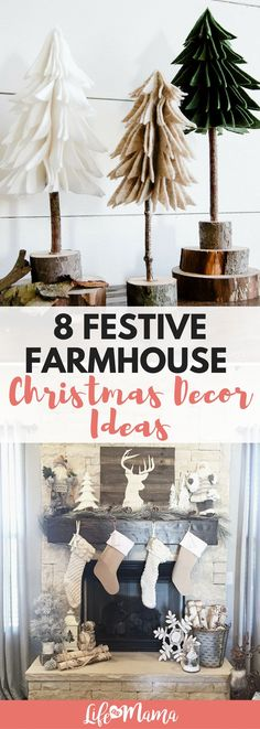 These festive farmhouse Christmas decorations are easy, stylish and the perfect way to accent your home during the holidays this year.