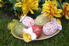 crochet easter eggs((: