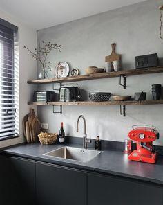 kitchen ideas – New Ideas Kitchen Room Design, Home Decor Kitchen, Kitchen Furniture, Home Kitchens, Home Interior Design, Interior Styling, Kitchen Time, Small Laundry Rooms, Kitchen Shelves
