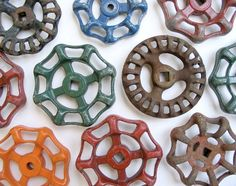 Vintage Water Faucet Knobs for hooks around the house.