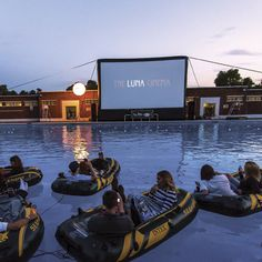 The outdoor Luna cinema, floating peacefully in a blow up raft whilst watching your favourite film. https://rockettstgeorge.wordpress.com/#luna