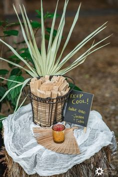 Fans are a popular favor for summer wedding, but this pair has added a fun twist by offering elegant, carved wood versions to their guests. | Elm Pass Woods - Wedding Festivals Center Point, TX Wedding Arch Rustic, Beautiful Wedding Venues, Unique Wedding Favors, Chic Wedding, Unique Weddings, Summer Wedding, Real Weddings, Festival Chic, Festival Wedding