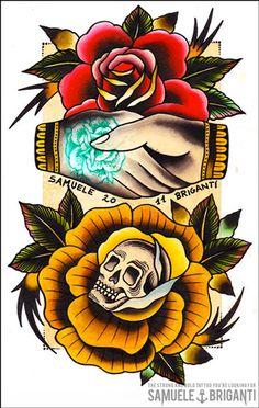 Samuele Briganti Tattoo Flash | KYSA #ink #design #tattoo