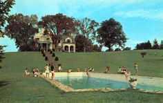 Broadlea Pool Academy of Our Lady Goshen, NY, a select residence and day school for girls, founded in 1929, situated on the former 360 acre Tweedy Estate in the lovely rolling foothills of the Ramapo Mountains.
