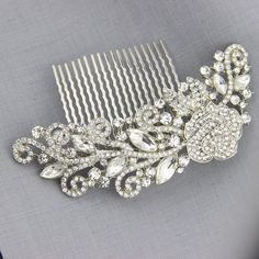 2015 New Design Flower Rhinestone Bridal Hair Comb Clip Pin Pieces Wedding Austrian Crystal Flora Accessories Jewelry Bride Headpiece