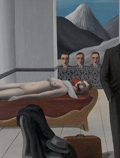 """The Menaced Assassin"" (details), 1927, René Magritte. René Magritte ( 1898 - 1967 ) Surrealist Artist : More At FOSTERGINGER @ Pinterest"