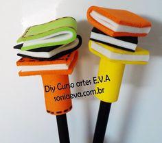 31 Modelos de Ponteira de Lápis em EVA | Revista Artesanato