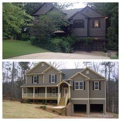 House exterior dark trim benjamin moore new Ideas Black House Exterior, Exterior Trim, Modern Exterior, Exterior Design, Exterior Paint Colors, Exterior House Colors, Dark Grey Houses, Benjamin Moore Exterior, Dark Trim