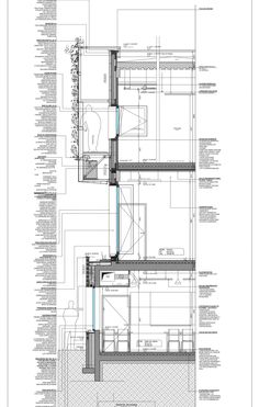 Section detail drawing. Architectural drawing