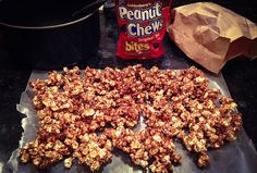 Peanut Chew Popcorn - easy and oh so tasty.