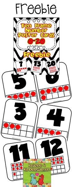 FREE Ten Frame Number Posters