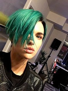 Ruby Rose With Green Hair