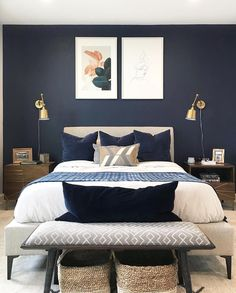 ideas home decored ideas modern bedroom interior design Mid-century Interior, Modern Interior Design, Apartment Interior, Interior Architecture, Modern Interiors, Design Interiors, Bedroom Apartment, Color Interior, Country Interior