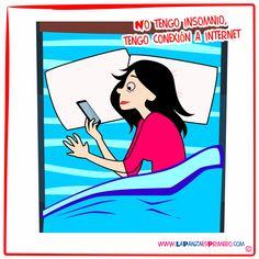 En lugar de desconectarse del mundo hay que desconectar Internet para domir #Humor #HumorPanza #LaPanzaesPrimero www.lapanzaesprimero.com