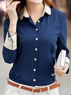 Free Sewing Pattern and Style ideas for Button Down Shirts - Regular & Plus…
