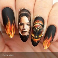 Hunger Games Paint Nails