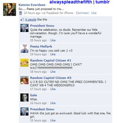 Hunger Games: Facebook edition... BAHAHAHAHAHA!!!!!!!!