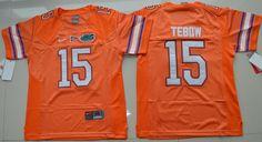 Youth Florida Gators Tim Tebow 15 College Football Jersey - Orange