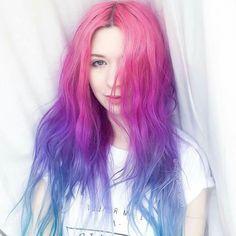 Hair Color Purple, Hair Dye Colors, Cool Hair Color, Fantasy Hair, Coloured Hair, One Hair, Aesthetic Hair, Dream Hair, Rainbow Hair