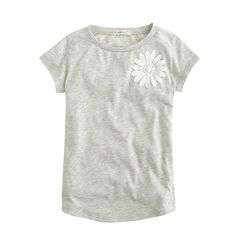 Girls' stone flower tee