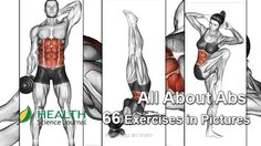 Check our comprehensive guide of 66 pictures and instructions for some of the best ab exercises from bodybuilding calisthenics and yoga. See the numerous ways you can work out your abs and add your favorites to your routine. Furthermore our illustration 30 Day Ab Workout, Best Ab Workout, Abs Workout For Women, Workout Trainer, Abdominal Exercises, Ab Exercises, Ab Workouts, Abdominal Fat, Fitness Man