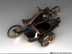 "Steampunk motorcycle ""Black Widow"""