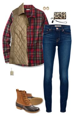 """""""Fall is Fleeting"""" by sc-prep-girl ❤ liked on Polyvore featuring mode, J Brand, L.L.Bean, Christian Dior, Coach et Essie"""