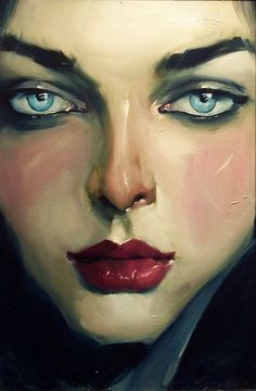 Malcolm_Liepke... I'm a little afraid to paint eyes so I'm admiring different styles!