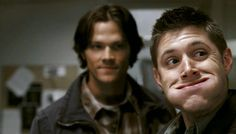 """Jensen Ackles as Dean Winchester and Jared Padalecki as Sam Winchester - Supernatural - 3x03 - """"Bad Day at Black Rock"""""""