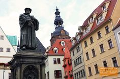 Statue of Martin Luther - Eisleben, Germany —