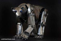 Robotic animal, bear made