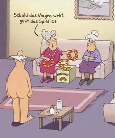 witzige Comic Gästebuch Bilder - sobald_das_viagra_wirkt_geht_das_spiel_los.jpg - GB Pics