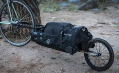 There tends to be the perception that bike trailers add a lot of weight and can be cumbersome to use. But you may find they're better than using panniers!