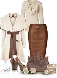 Brown and nude classy outfit Mode Outfits, Fall Outfits, Fashion Outfits, Womens Fashion, Fashion Trends, Fashion Ideas, Skirt Outfits, Jackets Fashion, Heels Outfits
