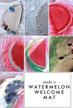 DIY Watermelon Fruit welcome mats - The House That Lars Built