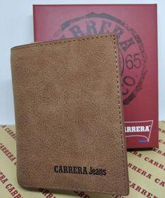 fcf2d2e079 Portafoglio Portacarte Carrera Jeans Uomo Ragazzo TAN - Idea Regalo in  scatola