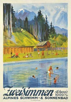 Zweisimmen, Schweiz, Alpines schwimm & sonnenbad