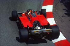 Gilles Villeneuve su Ferrari 126CK GP Monaco 1981
