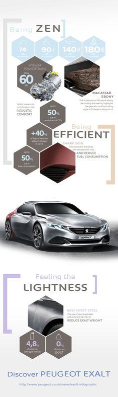 Peugeot Exalt Concept Infographic