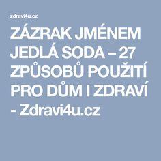ZÁZRAK JMÉNEM JEDLÁ SODA – 27 ZPŮSOBŮ POUŽITÍ PRO DŮM I ZDRAVÍ - Zdravi4u.cz