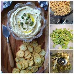 The raw nutty flavor of pumpkin seeds makes this hummus a delicious choice for everyone. Vegan and Raw! Vegan Recipes Videos, Vegan Lunch Recipes, Raw Food Recipes, Veggie Recipes, Cooking Recipes, Healthy Recipes, Juice Recipes, Healthy Dishes, Healthy Snacks