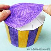 Step 7c Paper Circus Tent craft