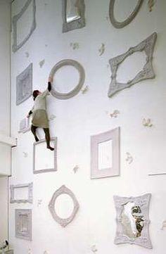 Interior design meets climbing wall.